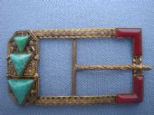 Art Deco Jewelled Buckle - Bohemian circa 1920
